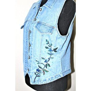 BILL BLASS JEANS  embroidered vest M